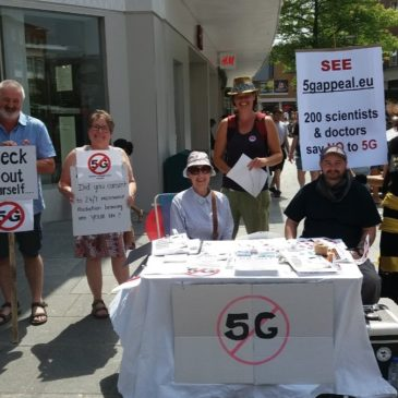 Next Stop 5G Protest Nov 30 at Erewhon in Venice
